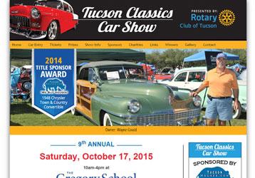 Tucson Classics Car Show JVista WordPress Maintenance Services - Tucson classic car show